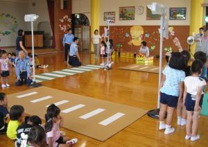 交通安全教室(ゆたか幼稚園)
