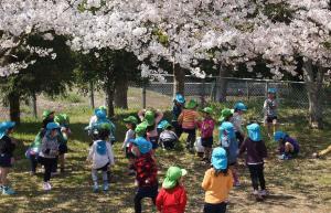 園庭の様子(ゆたか幼稚園)