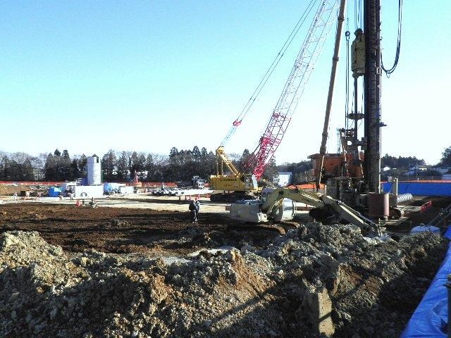 『h270119_B__庁舎_杭工事施工状況』の画像