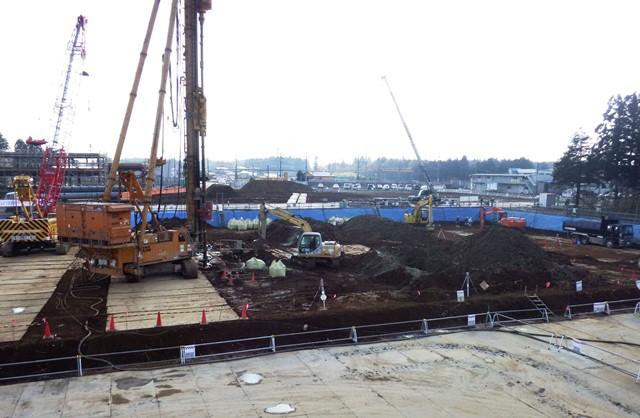 『h270126_C_庁舎_杭工事施工状況』の画像