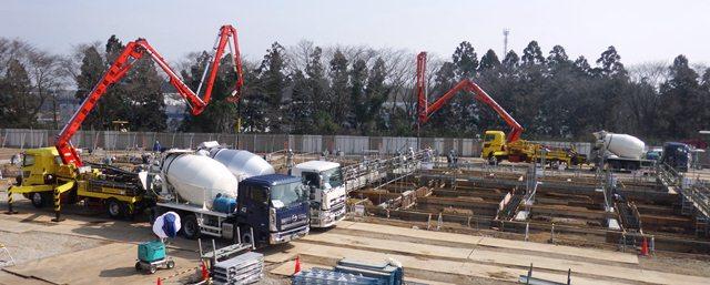 『h270318_公用車車庫・防災倉庫棟_コンクリート打設』の画像