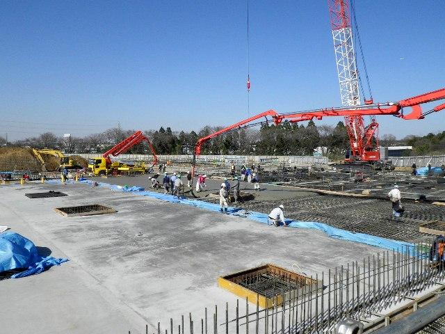 『h270327_庁舎棟_コンクリート打設状況』の画像