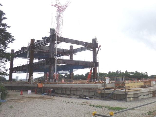 『h270618_庁舎棟鉄骨建方状況』の画像