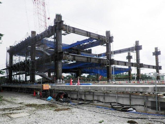 『h270627_庁舎棟鉄骨建方状況』の画像