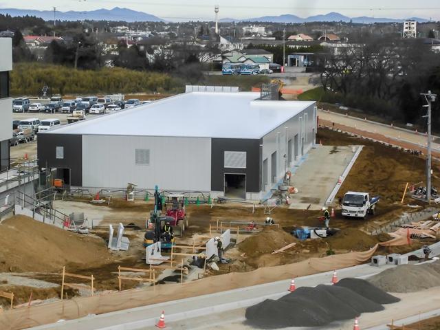 『h280111_公用車車庫・防災倉庫棟全景』の画像