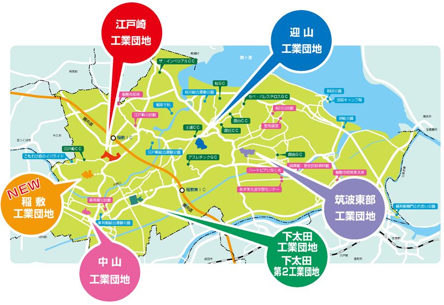 市内工業団地分布の画像