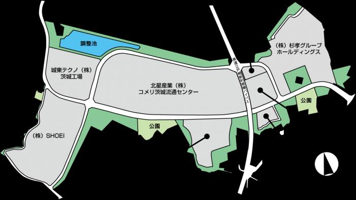 江戸崎工業団地 区画図