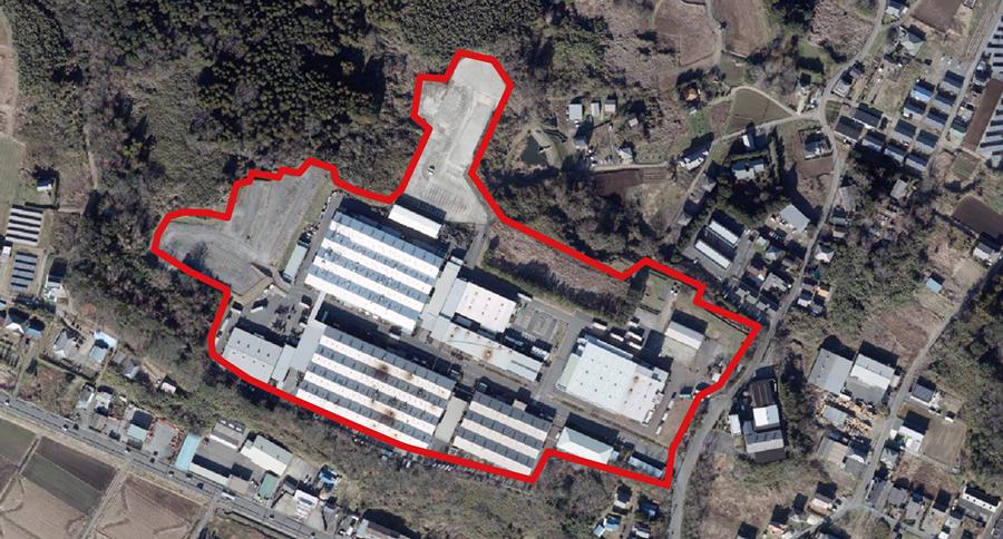 中山工業団地 上空写真