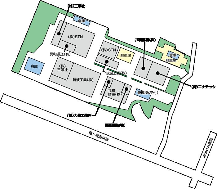 中山工業団地 区画図