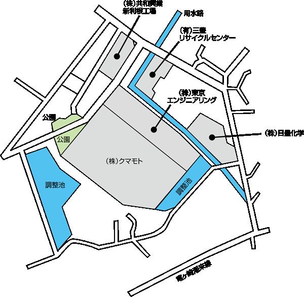 下太田第2工業団地 区画図