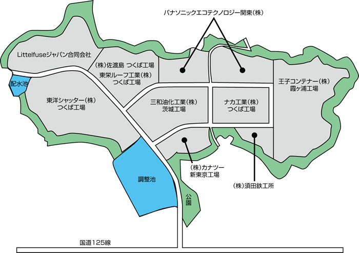 筑波東部工業団地 区画図