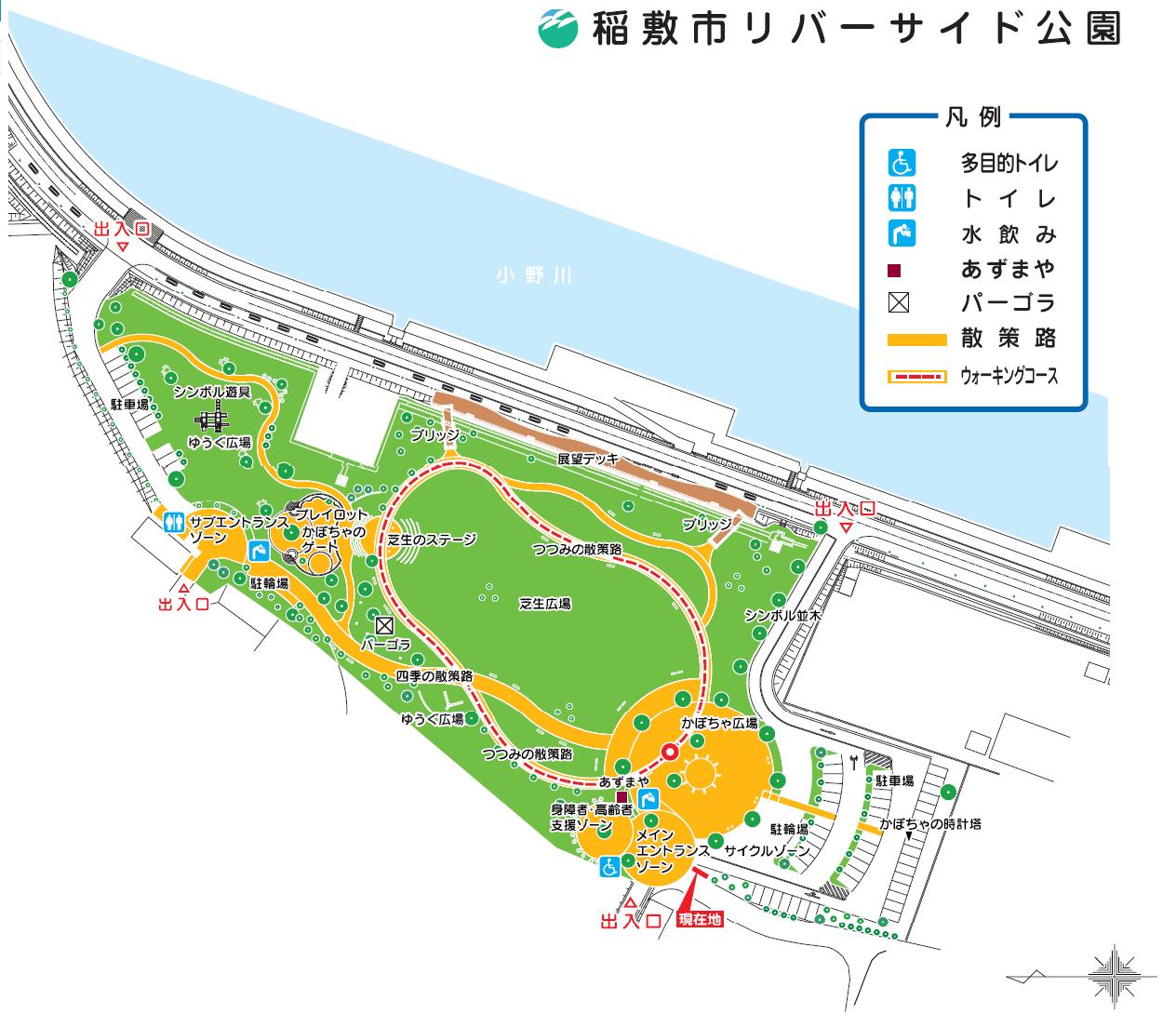 『リバーサイド公園平面図』の画像