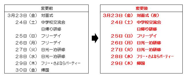 『日程変更』の画像